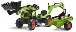 Falk–2040N–Outdoor-Spielzeug–Baggerlader Claas Arion 410+ Anhänger + Baggerschaufel - 1