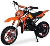 Kinder Mini Crossbike Delta 49 cc 2-takt Dirt Bike Dirtbike Pocket Cross (Orange) - 1
